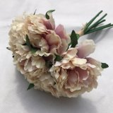 결혼식 호화스러운 인공적인 Hydrangea 실크 DIY 꽃을%s 다채로운 장식적인 꽃