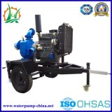 Zw Diesel van het Afval van de Riolering van het Type Self-Priming Aanhangwagen van de Pomp