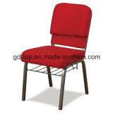 赤いファブリック鋼鉄教会椅子
