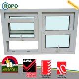 Weiße Farben-europäische Art UPVC doppeltes Glaswindows für Balkon