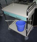 AG-Mt035 Cadre métallique d'hôpital avec deux bassins Chariot patient