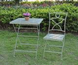 Lazer Praça de dobragem verde de ferro estilo de tabela para chá e snack-