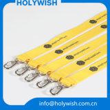 Clave promocional personalizado nuevo negocio de la exhibición de poliéster cuerda de seguridad