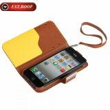 Крышка случая кожаный планки стойки Flip в случай телефона бумажника iPhone