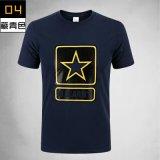 Nouveau design Fashion respirante T-shirt en coton militaire