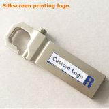 Personifizierter Flash-Speicher des Firmenzeichen-silbriger Metallhaken-USB3.0 (YT-3258-03)