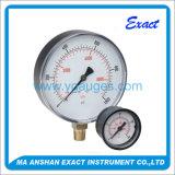 黒い鋼鉄ケースのBourdon管の乾燥した圧力計