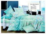 ポリエステルMicrofiberの明白な染められた安いシーツの一定の寝具セット