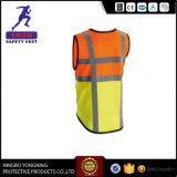 Veste 100%/roupa reflexivas do trabalho da visibilidade elevada do poliéster