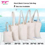 Natural promocionais Sacola grande de lona de algodão de estoque sacos de compras por grosso sacola reutilizável simples sacos de compras