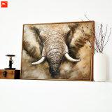 キャンバスの高品質のサバンナ象の油絵