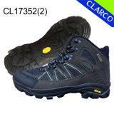 Кожаный люди Hiking напольные ботинки безопасности с резиновый подошвой