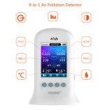 屋内携帯用ハンドルのテスターPm2.5 Pm10の粒子のカウンターのエア・クオリティ装置の探知器