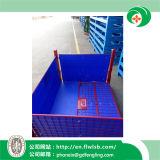 Gaiola dobrável do engranzamento de fio do metal para o armazenamento do armazém