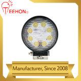4 luz Offroad impermeável redonda do trabalho do diodo emissor de luz da polegada 24W