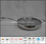 vaschetta di frittura antiaderante del corpo 5ply tutta la padella placcata