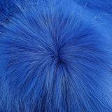 POM/Scarf/Coatのための着色された長い山の毛皮ファブリック偽造品の毛皮の人工毛皮