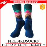 Custom оптовой рад носки мужчин красочные платья носки