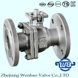 DIN F4 / F5 Deux pièces 304 Flange Ball Valve Fro Industrie
