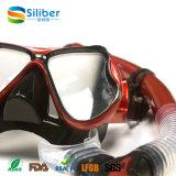 Sac 2017 de PVC pour le masque 100% de plongée de courroie de silicones et le jeu de prise d'air