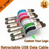 빠른 속도를 가진 마이크로 USB 철회 가능한 케이블