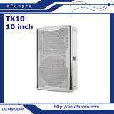 Altofalante profissional do estágio do monitor de 10 polegadas com cor branca (TK10 - TACTO)
