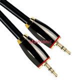 кабель Stereo 3.5mm, целесообразный для Smartphone, черни и MP4