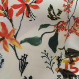 elastico tessuto del poliestere stampato alto tessuto di seta naturale 75D per gli indumenti delle donne