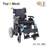 의료 기기 세륨 ISO에 의하여 주문을 받아서 만들어지는 핸디캡을 붙인 접히는 힘 전자 휠체어