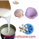 液体のシリコーンゴムを作る蝋燭および石鹸型
