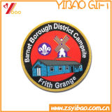 Изготовленный на заказ заплаты вышивки круглой формы с логосом для одежд (YB-SM-17)