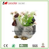 Caliente-Venta de poliresina de jardín Maceteros pato estatuilla para la decoración del hogar