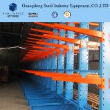 El doble hizo frente al estante voladizo resistente del almacenaje de acero para industrial