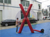 Modello gonfiabile personalizzato, modello di figura di X per fare pubblicità