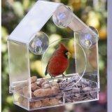 Diseño más reciente de la ventana de acrílico transparente comedero para pájaros