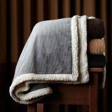 Sherpa 담요를 가진 마이크로 밍크 특별히 두꺼운 2개의 층