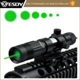Verde ajustable Vista láser Designator/Iluminador Linterna/W/Montaje Weaver