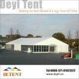 Fête de mariage d'exposition extérieur tente avec mur de verre & doublure
