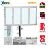 UPVC/PVC 이중 문을 이중 유리를 끼우는 고품질