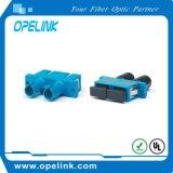 Adaptador óptico Duplex&#160 de fibra; para la red de televisión por cable/&#160 óptico; LAN de la fibra