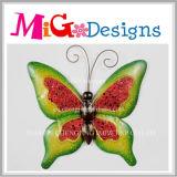 Belos metal e vidro Butterfly Decoração de parede