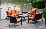 3 PCS cheTessono il sofà esterno del patio del rattan del giardino
