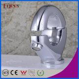 Fyeer Creative O-Shape Chrome Plated Brass Wash Basin Faucet Torneira de mistura de água quente e fria Wasserhahn