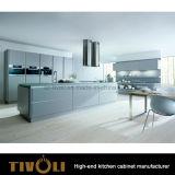 Gabinetes pretos modernos da despensa da cozinha de /White com projeto Tivo-0142h do console
