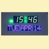 Hot Design Colorful Light Let Digital Wall Clock Afficher la date