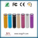 Metallbewegliche Powerbank Li-Ionbatterie des Handy-2600mAh