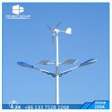 Energiesparender Wind-Turbine-Generator-Wind-hybrides Straßenlaternesolar der Schaufel-500W fünf