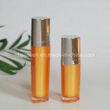 bottiglia cosmetica acrilica arancione 15/50ml con la pompa della lozione (PPC-NEW-095)
