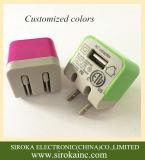 Universal 1colorido un solo USB cargador de teléfono móvil