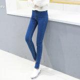Washing Denim Jeans der neuen Form-Entwurfs-Dame mit Kratzer